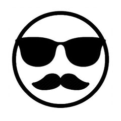 Emoji Cool Guy with Moustache