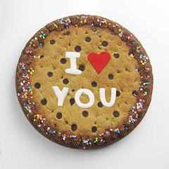 Fondant message template - I ♥ you