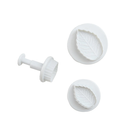 Set of 3 Rose Leaf Sugar Paste Plunger Cutters