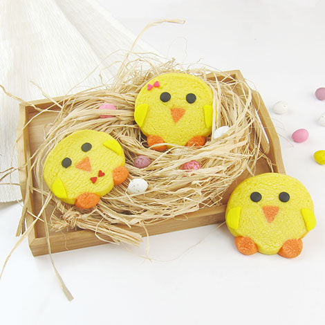 Easter Chicks Shortbread Cookies