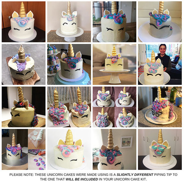Unicorn cakes made from scratch by you!