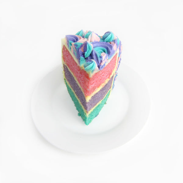 Surprise ombre cake inside (pink, violet & teal)
