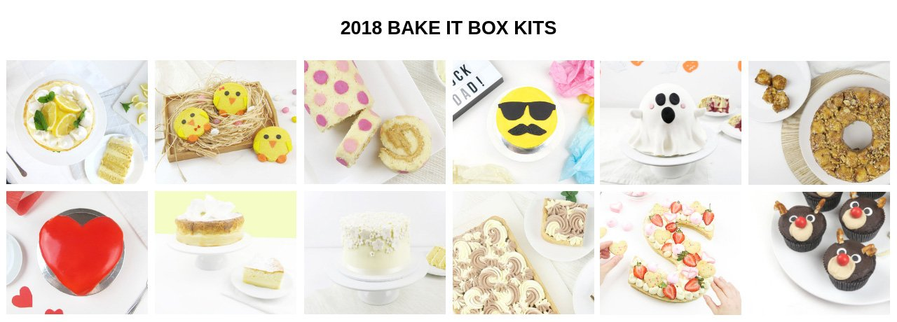 2018 Monthly Bake It Box Baking Kits