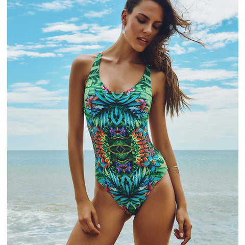 Maryssil - Brazilian Tropical Spirit One Piece Swimsuit, Swimwear, [product_colour]  - ALVESIA