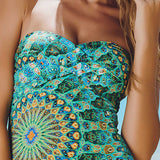 Maryssil - Mandala Print Brazilian One Piece Swimsuit, Swimwear, [product_colour]  - ALVESIA