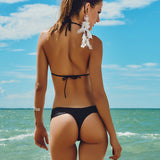 Maryssil - Black Brazilian Thong, Swimwear, [product_colour]  - ALVESIA