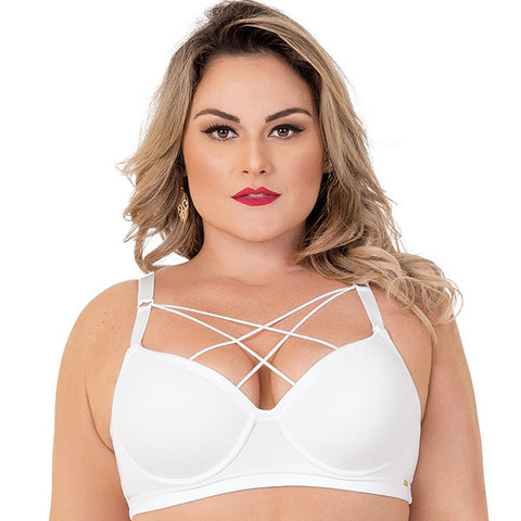 Comfort Plus-Size Strappy Bra - 2Rios, Bra, [product_colour]  - ALVESIA