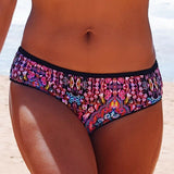 Maryssil Mandala Print Bikini Bottom, Swimwear, [product_colour]  - ALVESIA