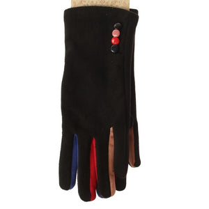 Velvet Gloves with Contrast Fingers