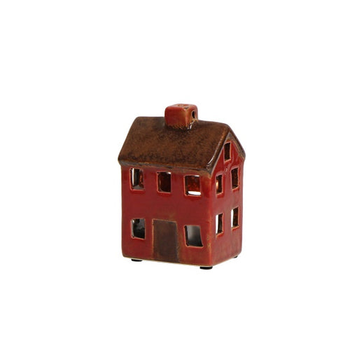 Small Brown and Red Tea Light House