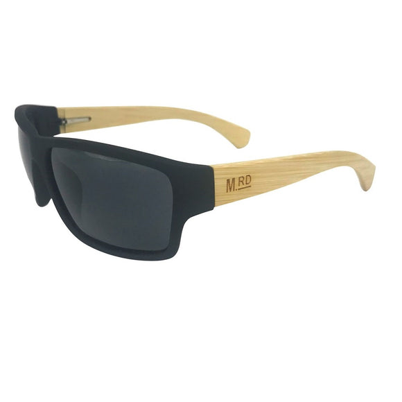 Black & Light Wood Tradies Sunnies