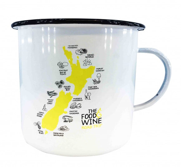 NZ Enamel Food & Wine Mug - Small