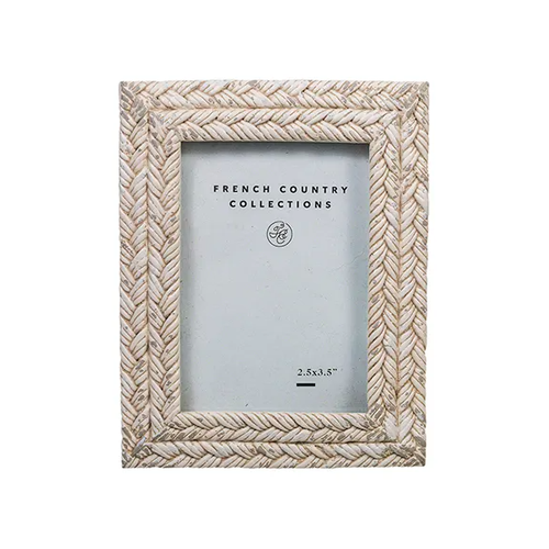 Rope White Wash Photo Frame 2.5x3.5