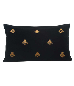 Black Buzz Cushion - Rectangle