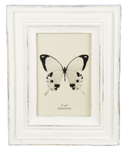 Stepped Classical Photo Frame - White 4x6""