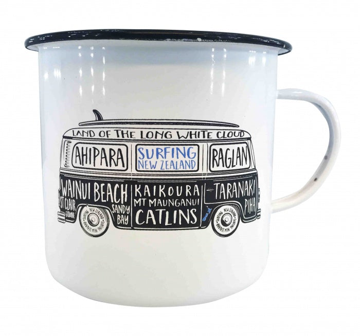 NZ Enamel Surfing Mug - Small
