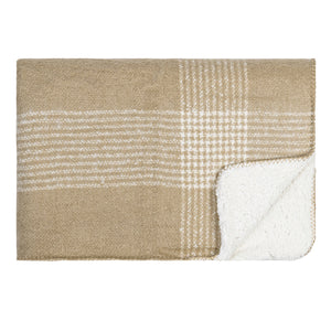 Soft Sherpa Throw - Camel