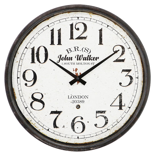 John Walker Iron Wall Clock