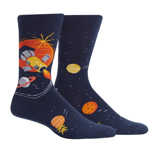 Men's Crew Socks - Fly me to the Sun