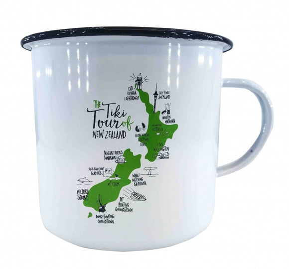 NZ Enamel Tiki Tour Mug - Small