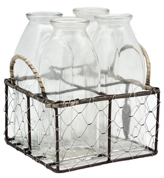 Wire Rack Bottles - Set of 4