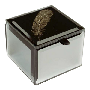 Bling Mini Trinket Box - Feather