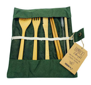 Bamboo Cutlery Set - Olive