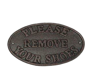 Please Remove Your Shoes Plaque