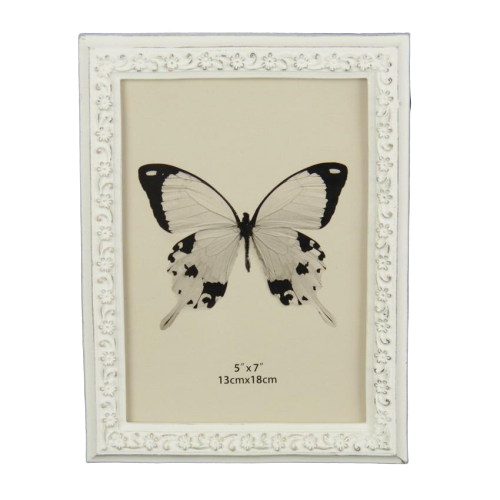 Trailing Daisy Edge Photo Frame - White