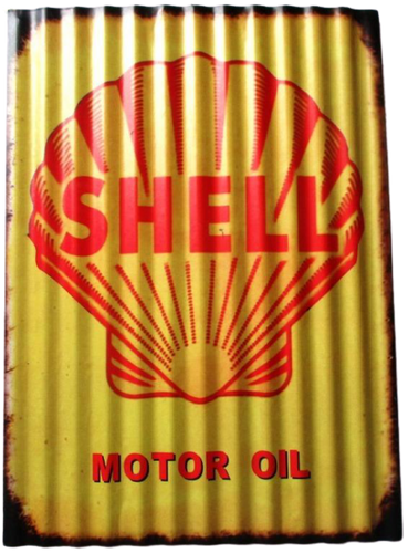 Old Style Shell Sign