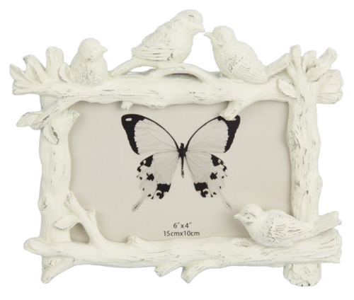 Birds & Branches Photo Frame - White 6x4