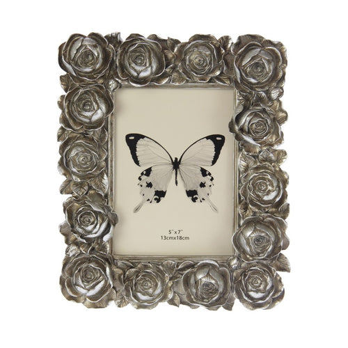 Large Roses Photo Frame - Champagne