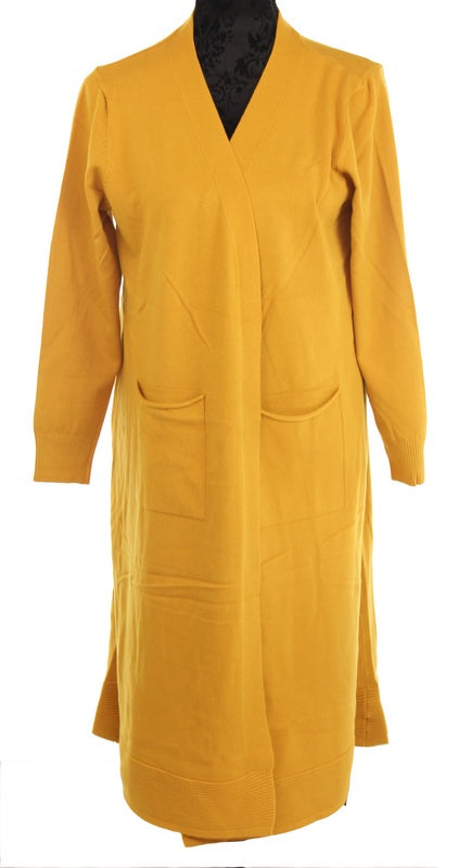 Sweater Coat - Mustard
