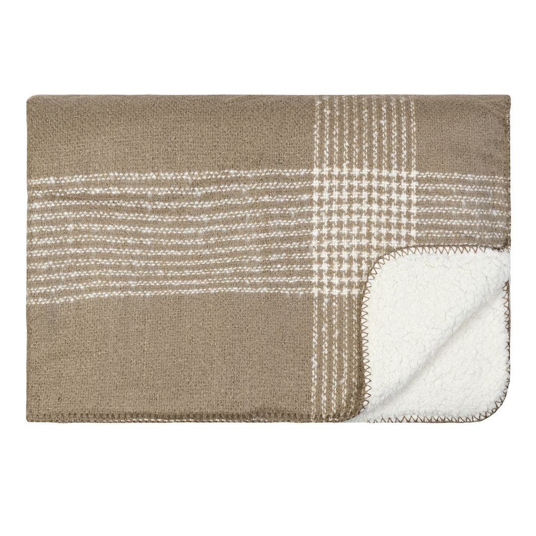 Soft Sherpa Throw - Taupe