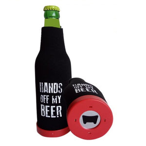 Single Stubby Holder - Hands Off My Beer
