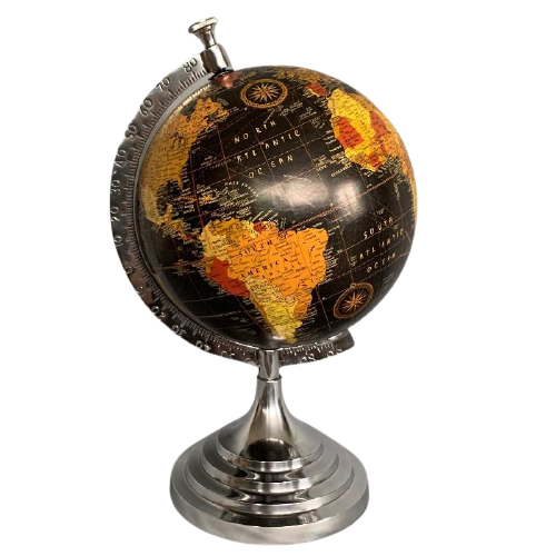 Black Freestanding Globe