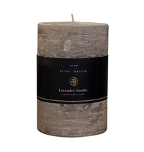 Load image into Gallery viewer, Scent Maison Lavender Vanilla Pillar Candle