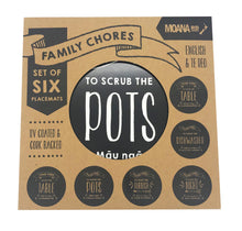 Load image into Gallery viewer, Placemats - Family Chores Set of 6