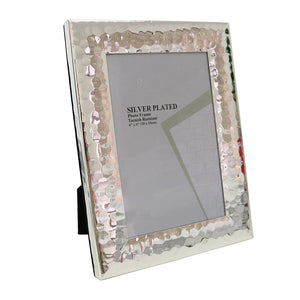 Hammered Silver Frame 4x6""