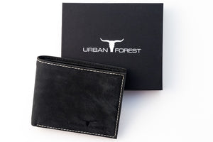 Logan Leather Wallet - Black