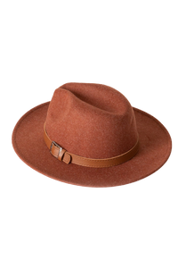 Blair Fedora Hat - Brick
