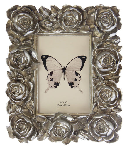 Medium Roses Photo Frame - Champagne