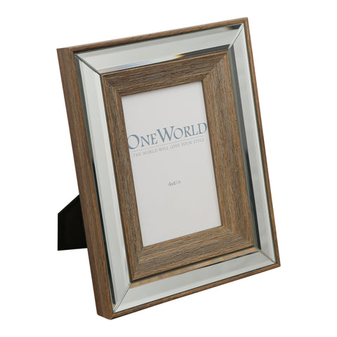 Timber Mirrored Photo Frame - 4x6