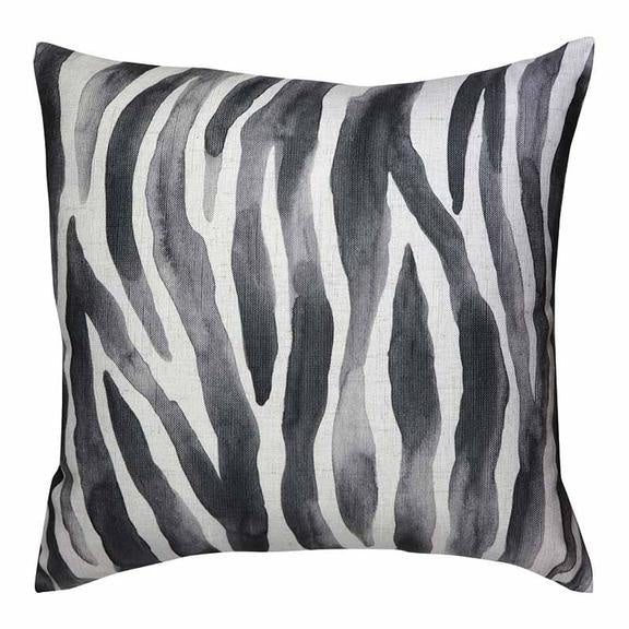 Zebra Black Cushion