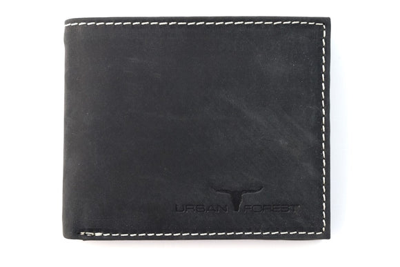 Amos Leather Wallet - Black