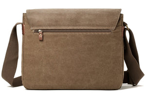 Medium Flap Front Messenger Bag - Brown