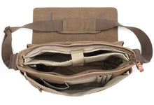 Load image into Gallery viewer, Medium Flap Front Messenger Bag - Brown