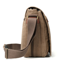 Load image into Gallery viewer, Large Flap Front Messenger Bag - Brown