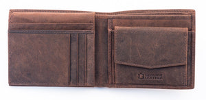 Amos Leather Wallet - Brown