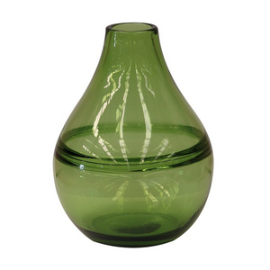 Emerald Green Handblown Glass Vase